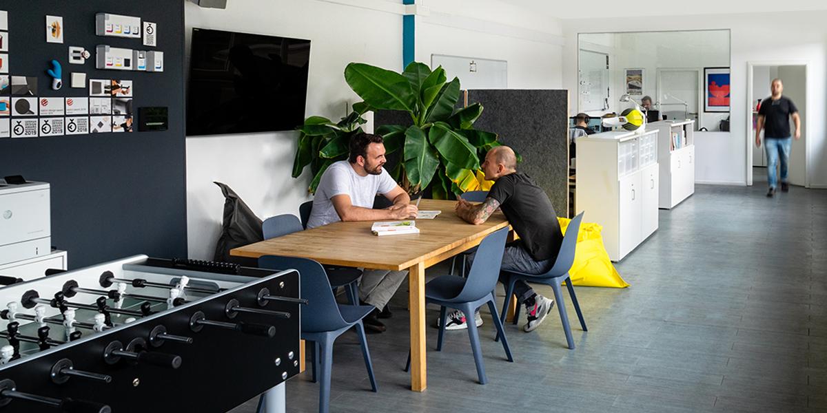 Fortschrittliches Produktdesign entsteht aus unserem engagierten Team in Düsseldorf.