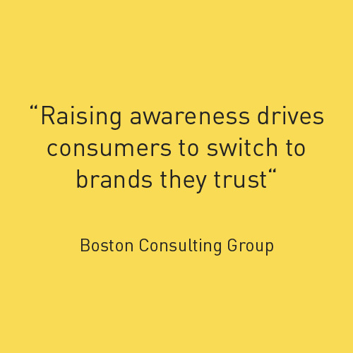 Raising awareness drives consumers to switch to brands they trust