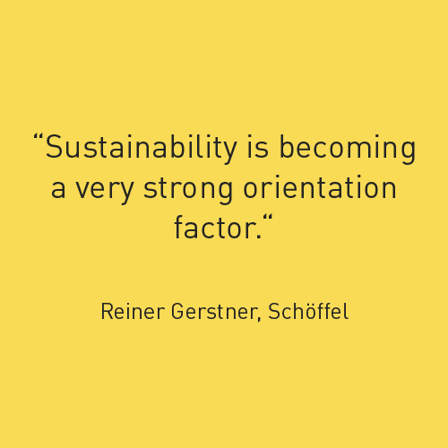 Sustainability is becoming a very strong orientation factor