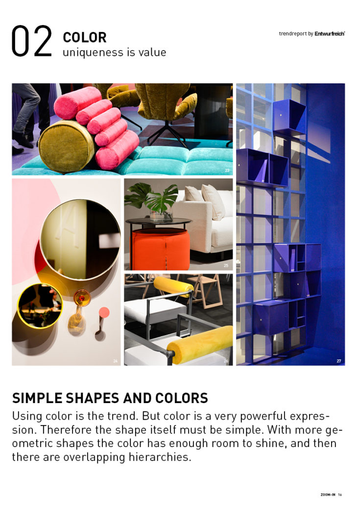 2020 Trend report home furniture tables chairs seating homey color awareness minimalism