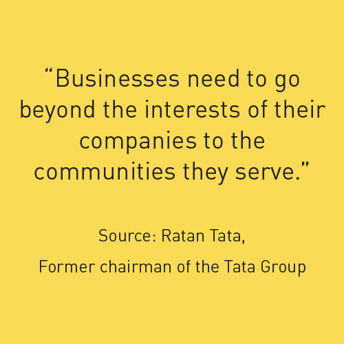 Businesses need to go beyond the interest of their companies to the communities they serve